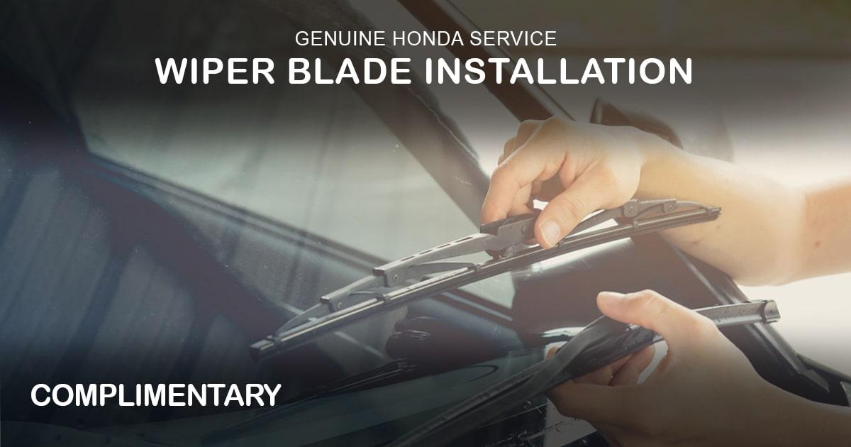 Rapids Honda Wiper Blade Special Coupon