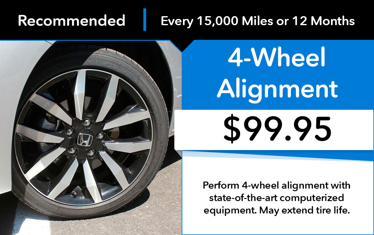 Honda 4-Wheel Alignment Service Special Coupon