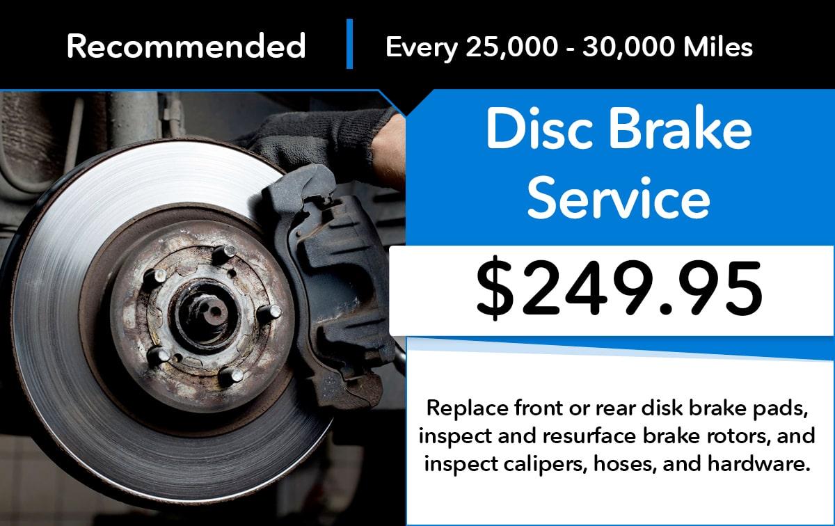 Honda Disc Brake Service Special Coupon