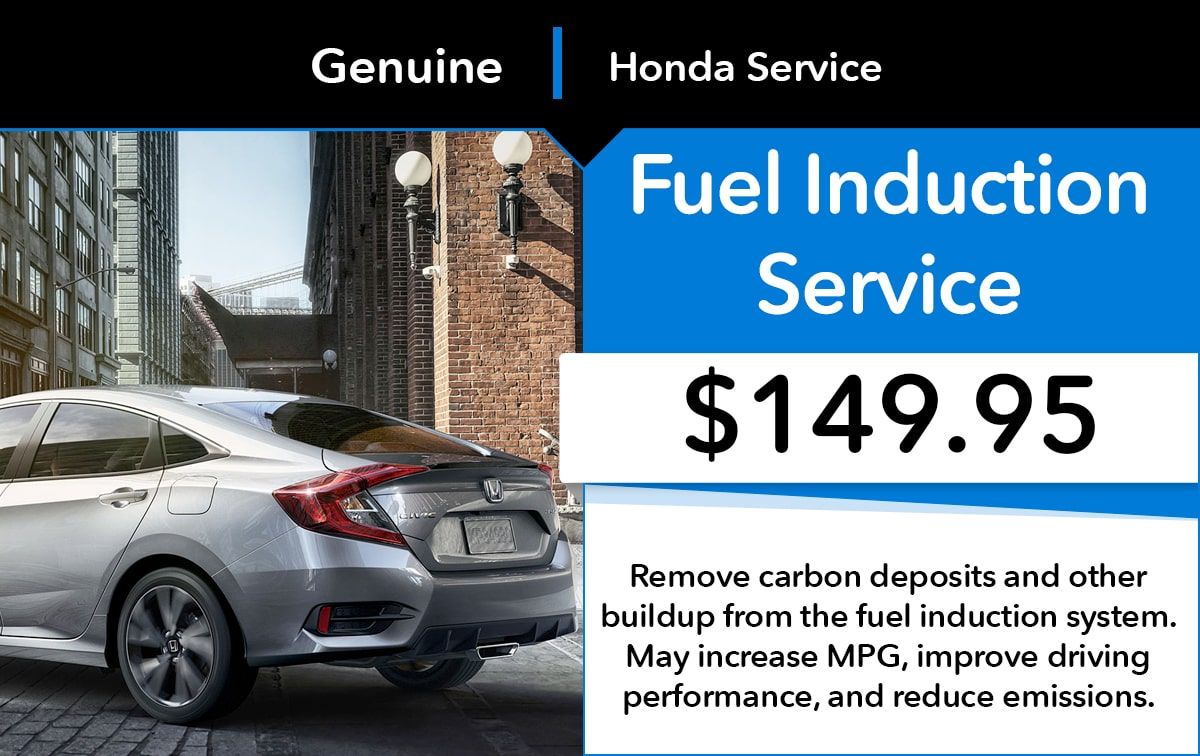 Honda Fuel Induction Service Special Coupon