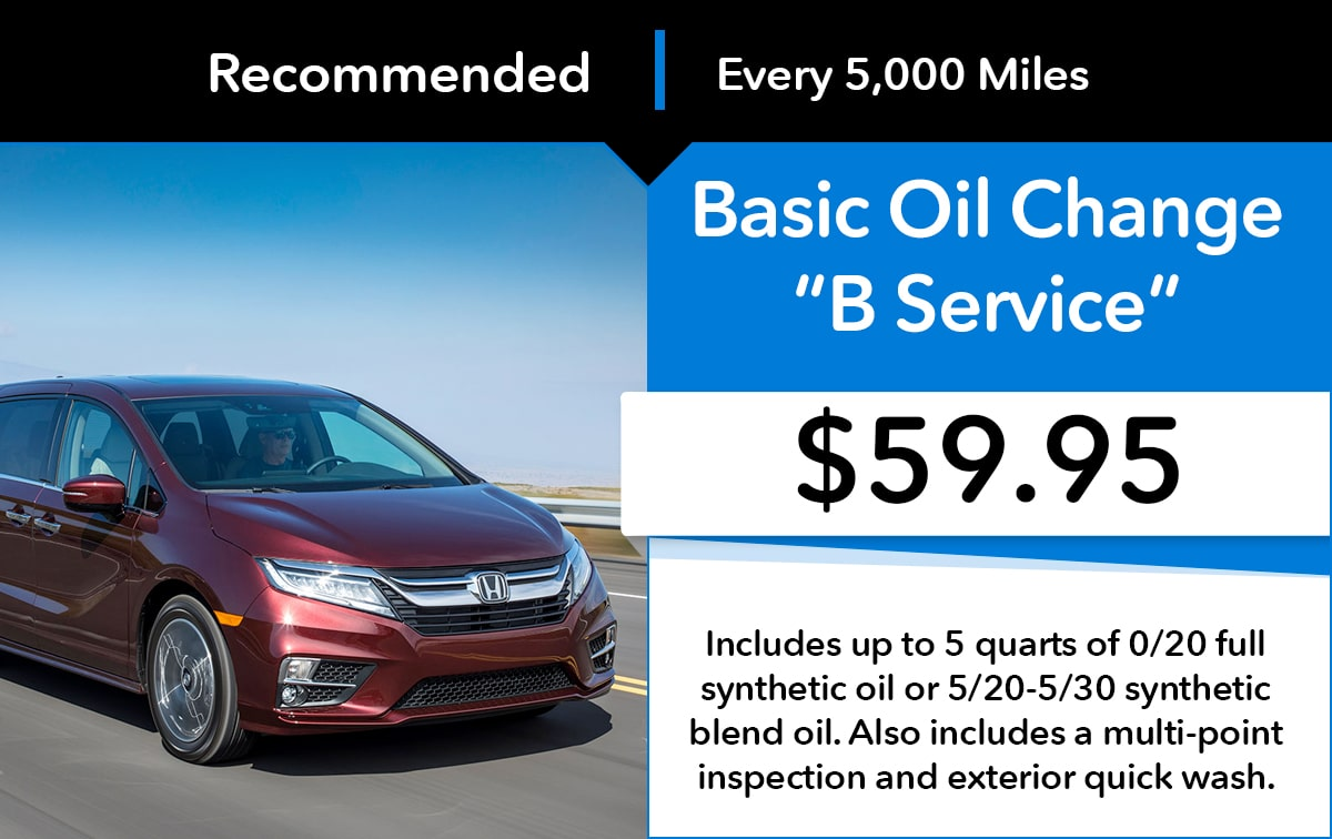 Honda Good Oil Change B Service Special Coupon