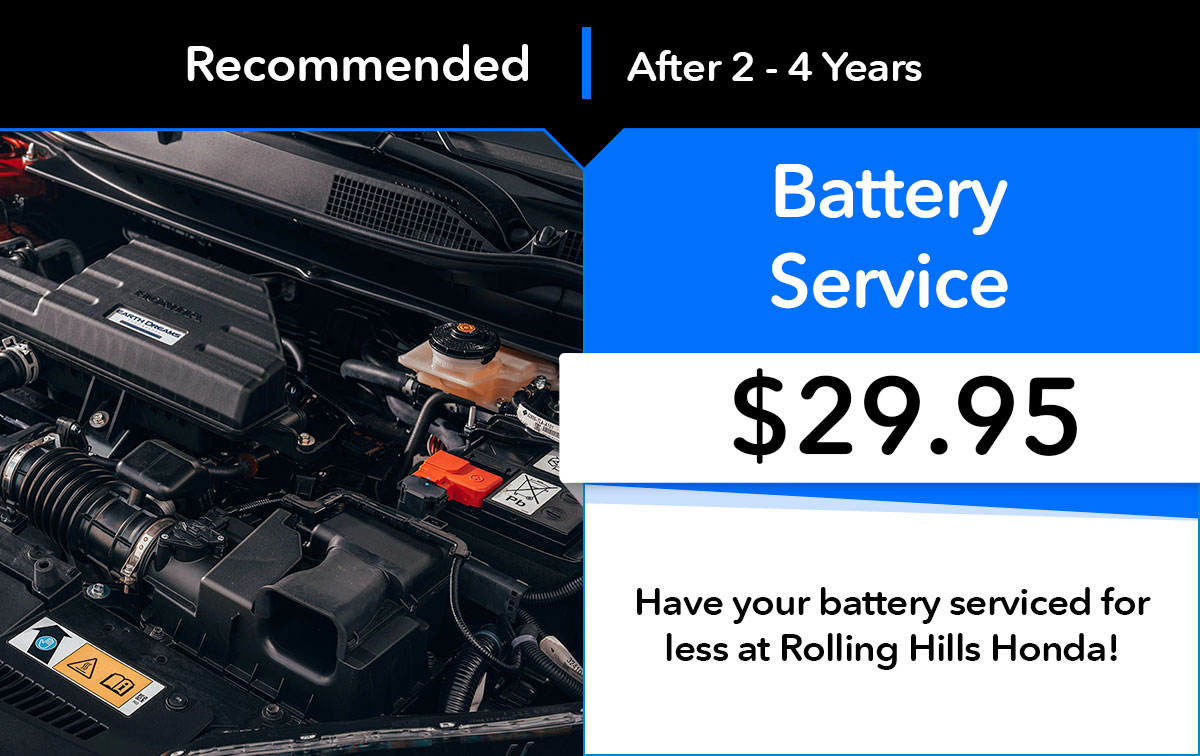 Honda Battery Service Special Coupon