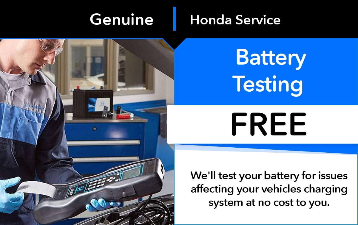 Honda Battery Test Service Special Coupon