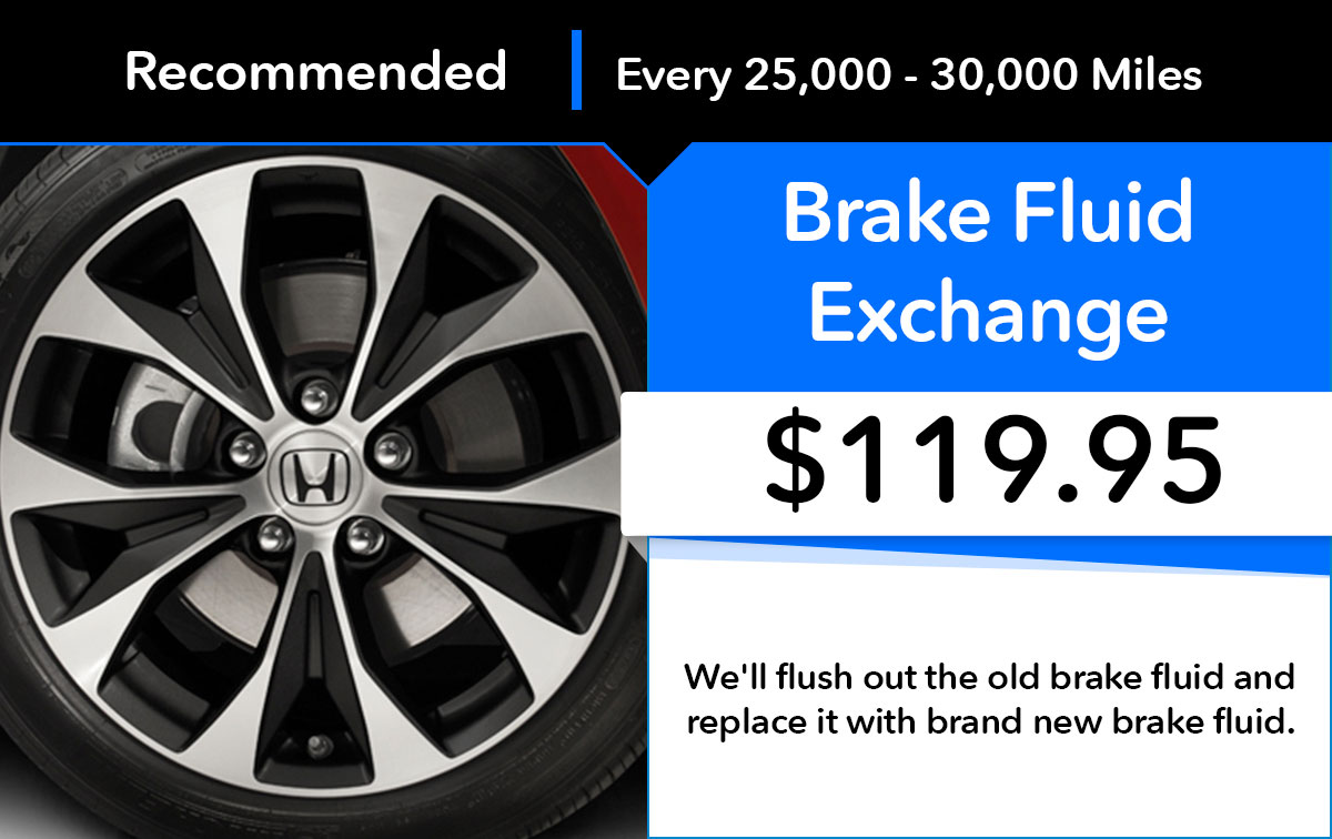 Honda Brake Fluid Exchange Service Special Coupon