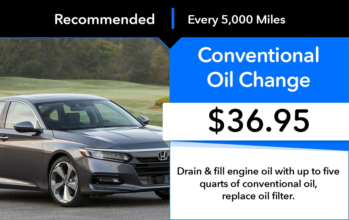 Honda Conventional Oil Change Service Special Coupon