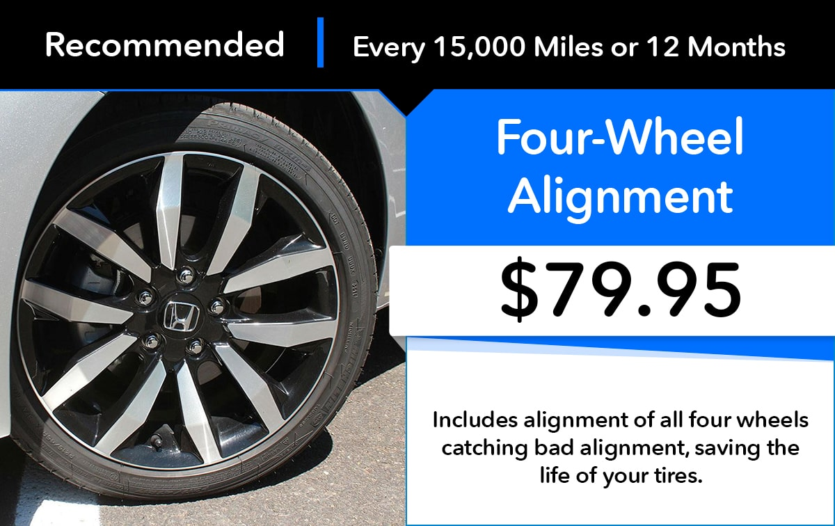 Honda Four- Wheel Alignment Service Special Coupon