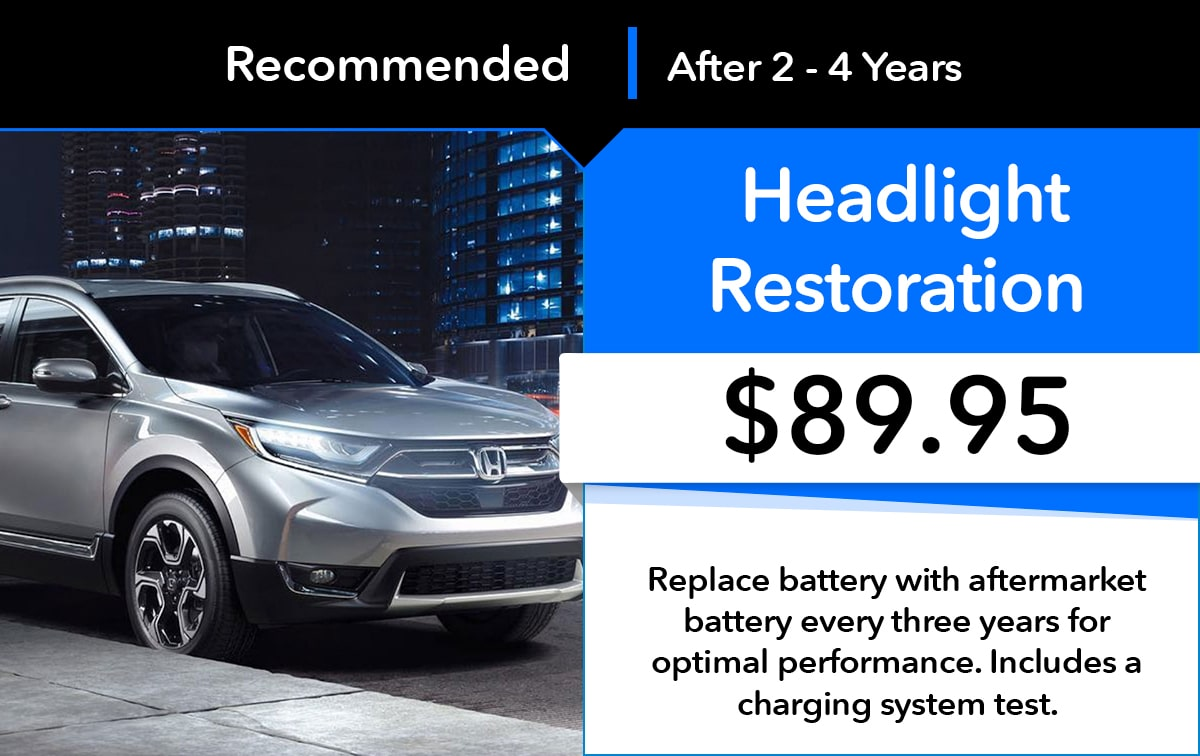Honda Headlight Restoration Service Special Coupon