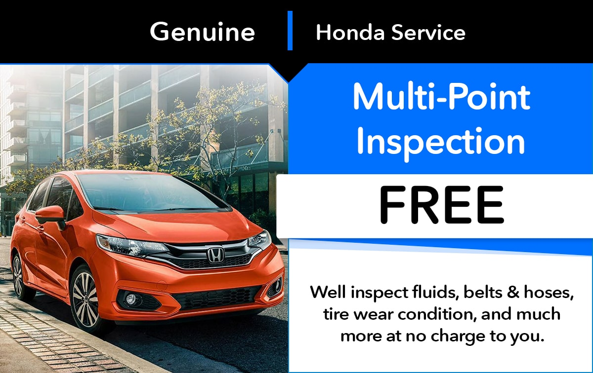 Honda Multi-Point Inspection Service Special Coupon