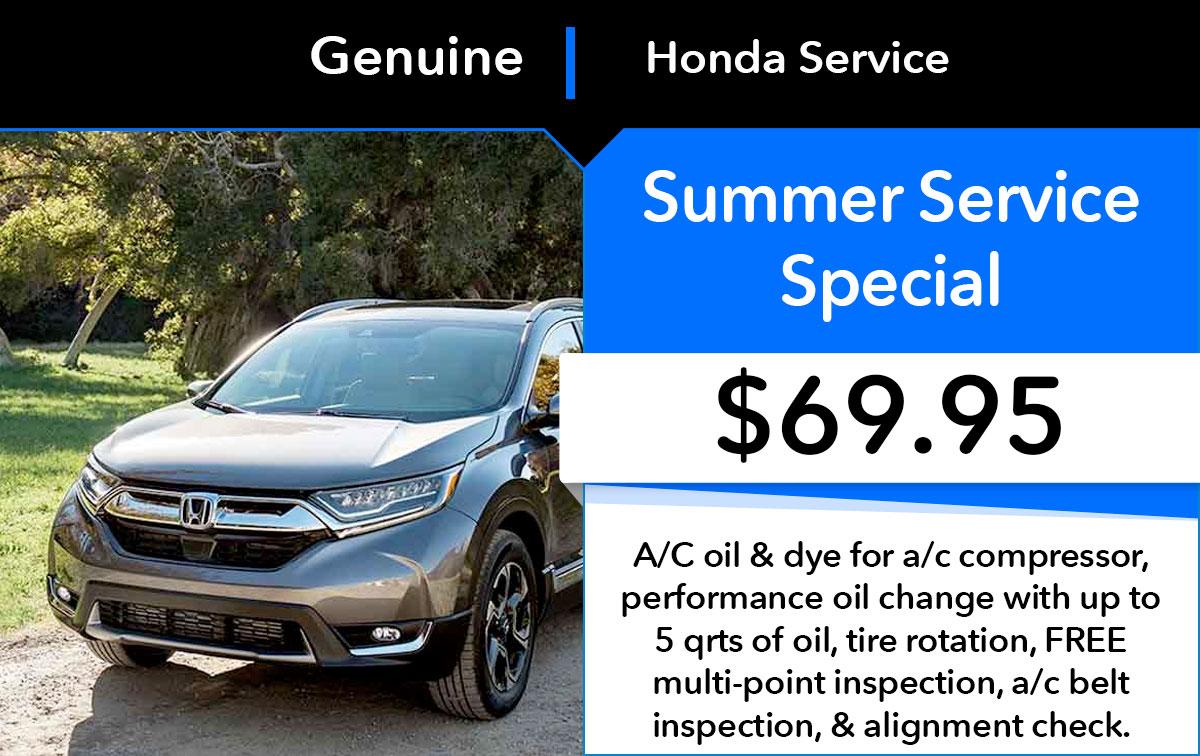 Honda Summer Service Special Coupon