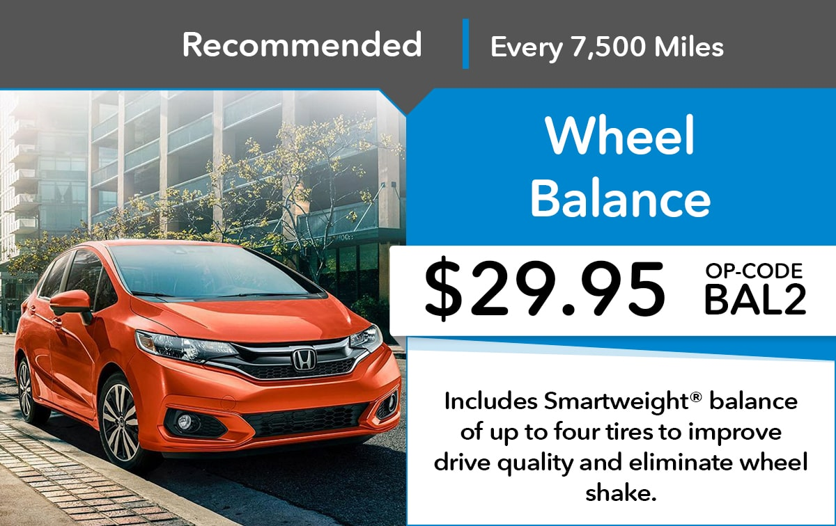 Honda Wheel Balance Service Special Coupon