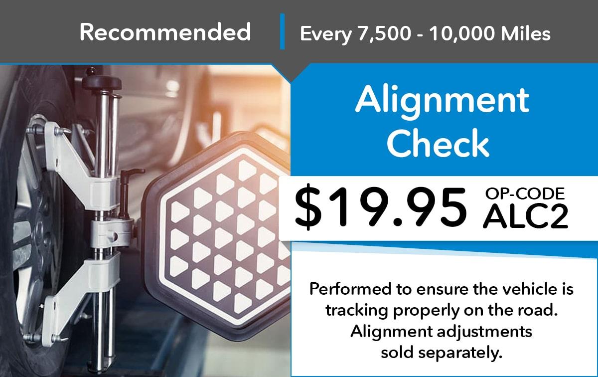 Honda Alignment Check Service Special Coupon