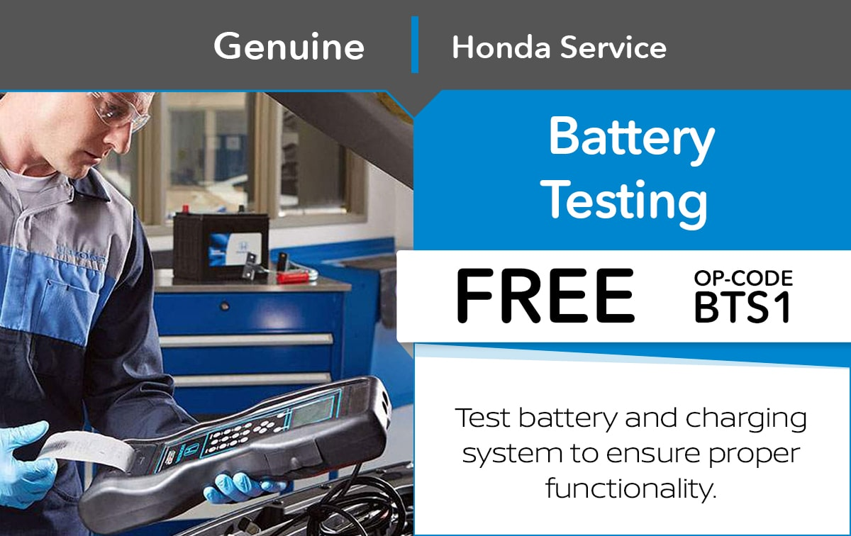 Honda Battery Testing Service Special Coupon
