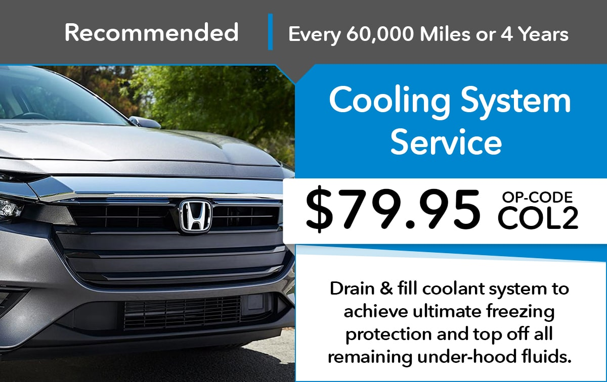Honda Cooling System Service Special Coupon