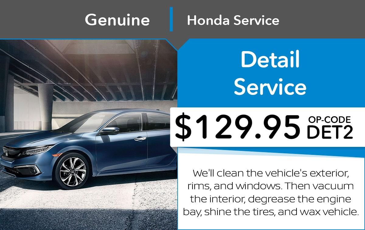 Honda Detail Service Special Coupon