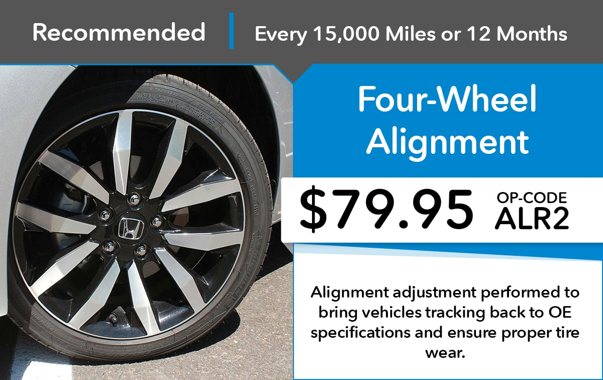 Honda Four-Wheel Alignment Service Special Coupon