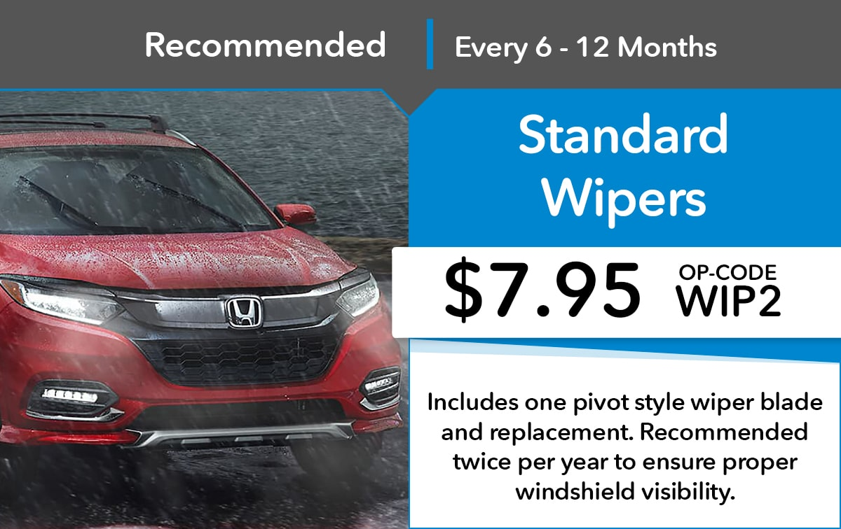 Honda Standard Wipers Service Special Coupon