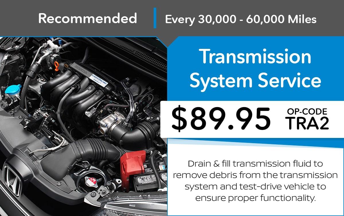 Honda Transmission System Service Special Coupon