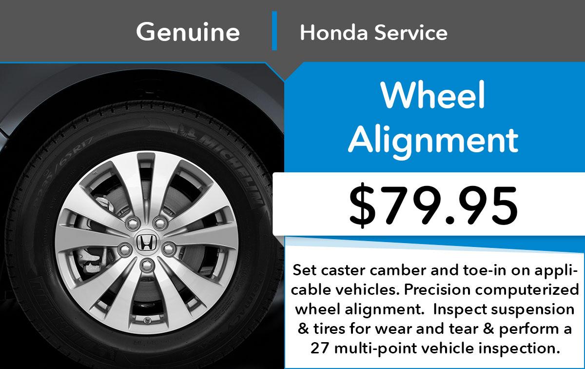 Honda Alignment Service Special Coupon