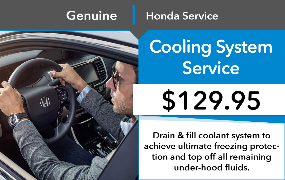 Honda Cooling Service Special Coupon