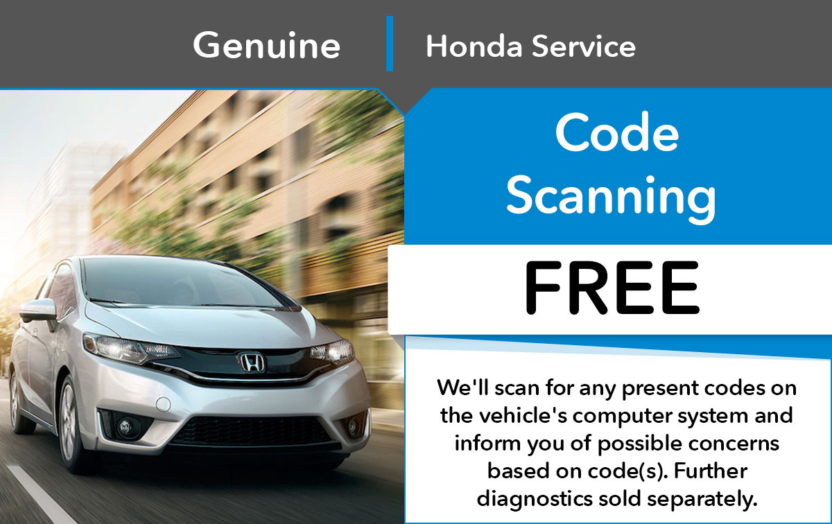 Honda Code Scanning Service Special Coupon