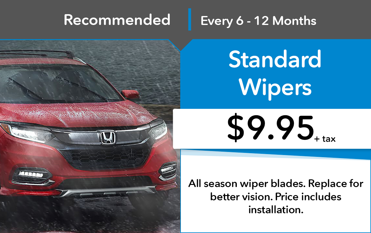 Honda Standard Wipers Special Coupon