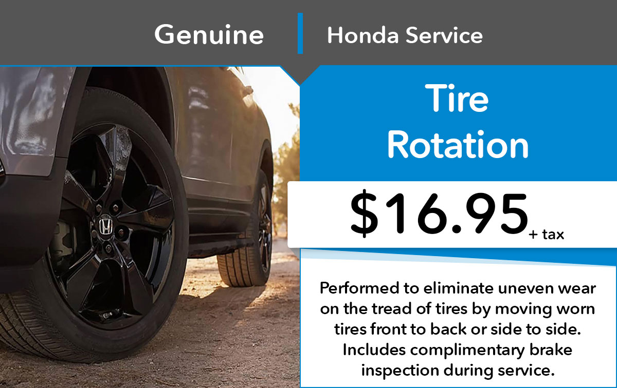 Honda Tire Rotation Service Special Coupon