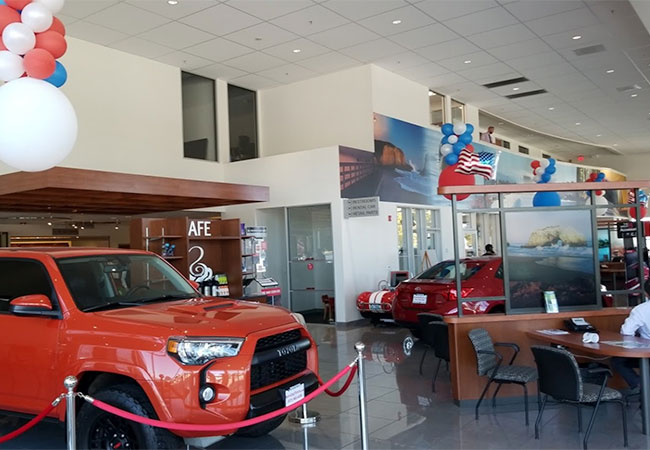 Santa Cruz Toyota Waiting Area