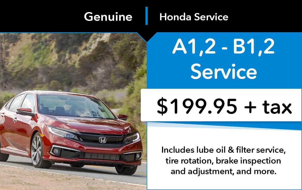 Honda A1,2 B1,2 Service Special Coupon