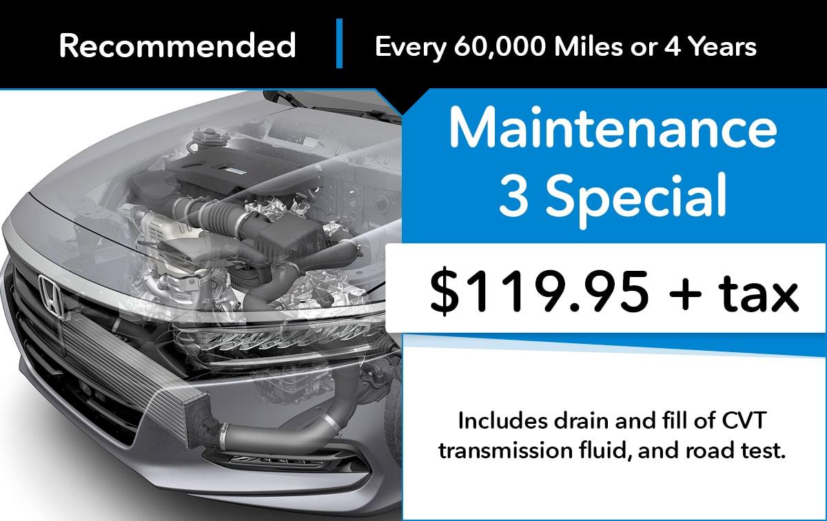 Honda Maintenance 3 Special Coupon