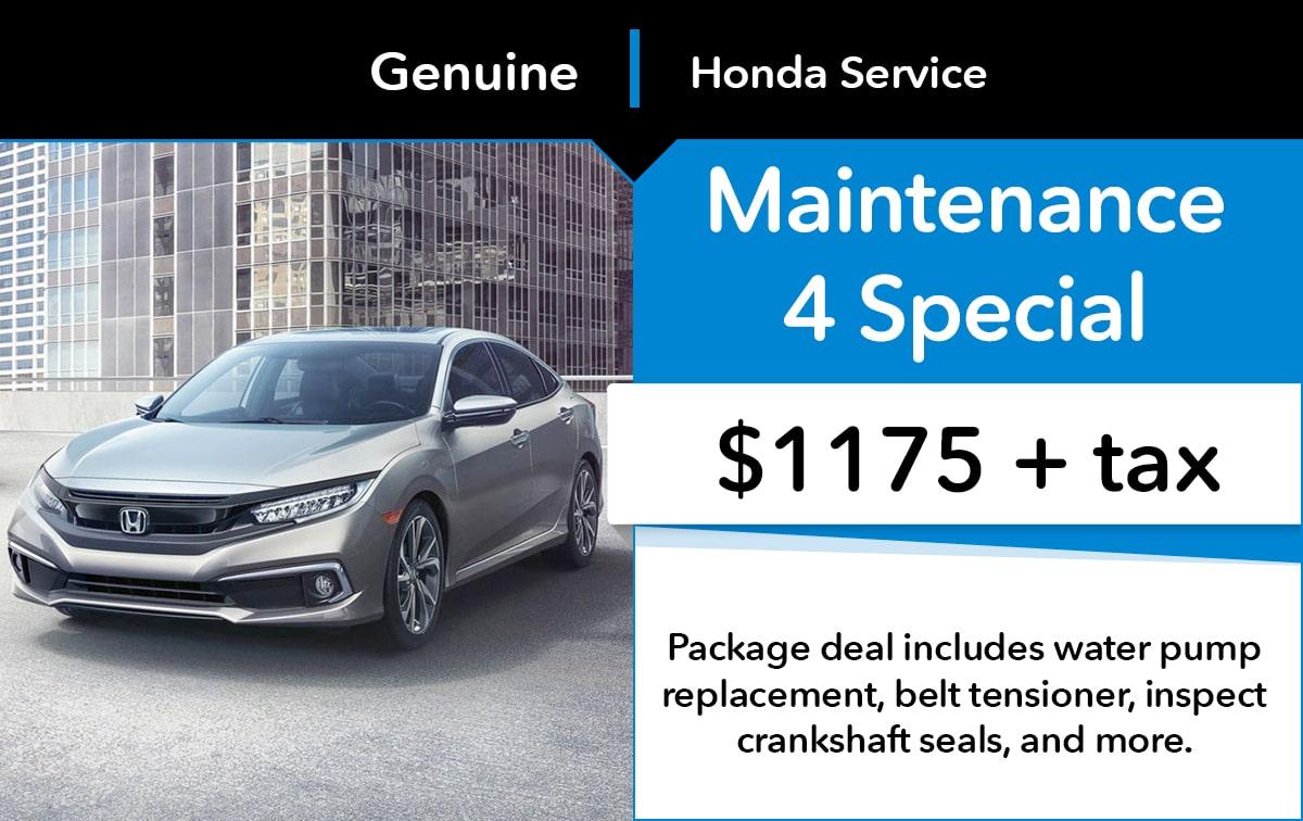 Honda Maintenance 4 Special Coupon