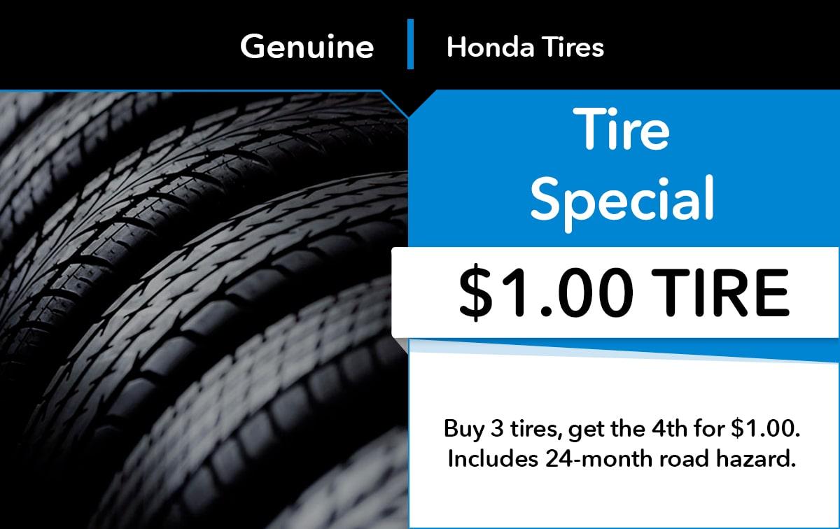 Honda Tire Special Coupon