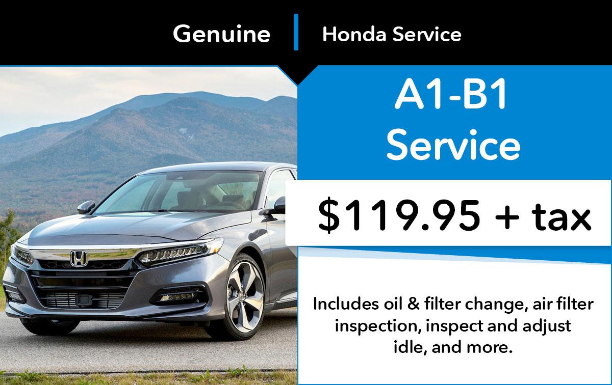 Honda A1-B1 Service Special Coupon