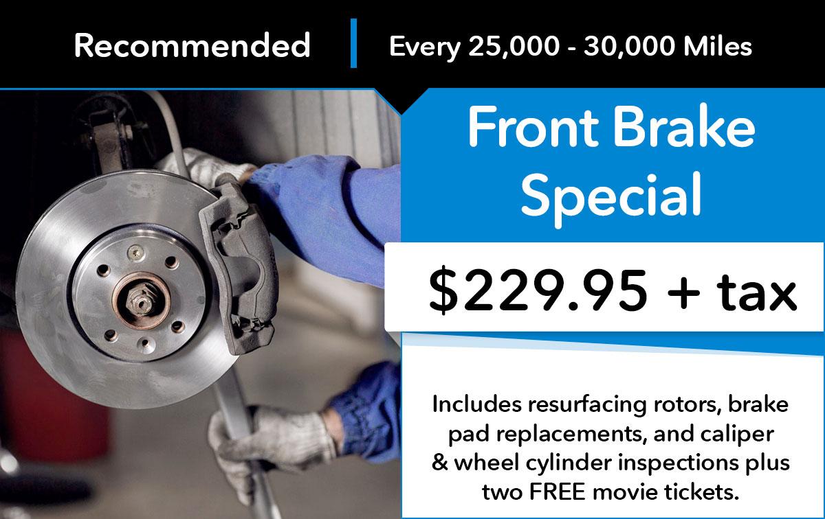 Honda Front Brake Service Special Coupon