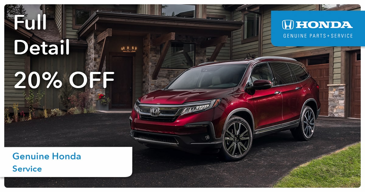 Honda Full Detail Service Special Coupon