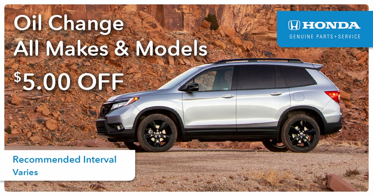 Honda All Makes and Models Oil Change Service Special Coupon