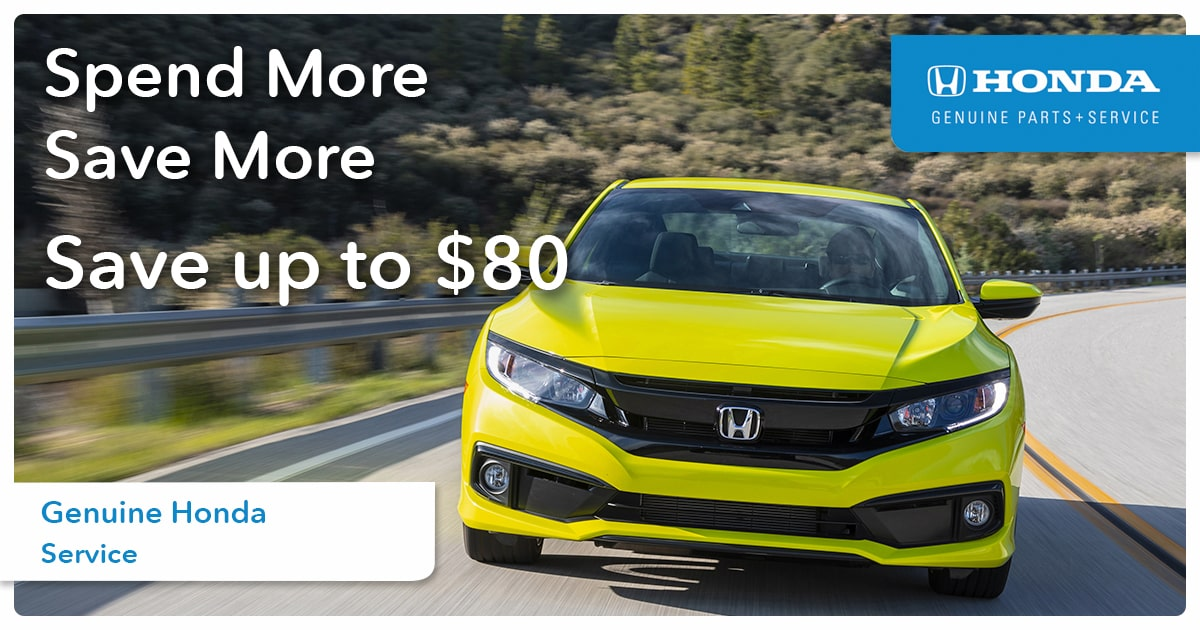 Honda Spend More Save More Service Special Coupon