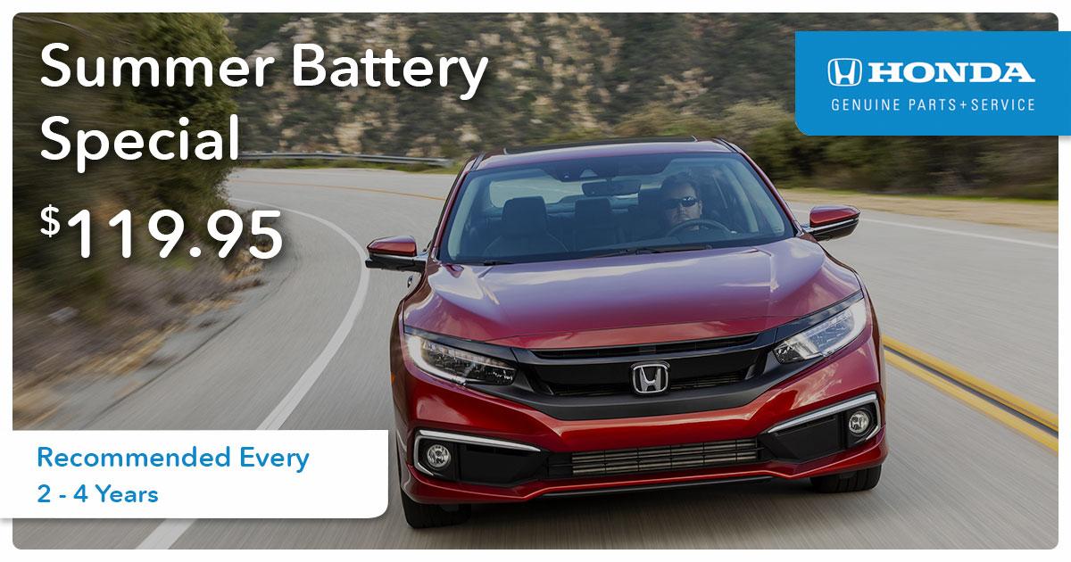 Honda Battery Service Special Coupon