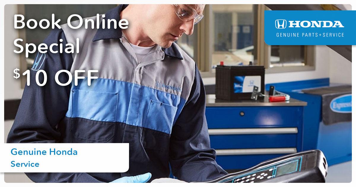 Honda Book Online Special Coupon