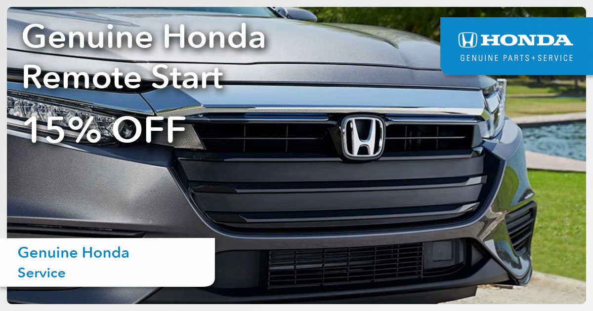 Honda Remote Start Special Coupon