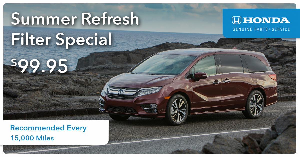 Honda Engine Air Filter Replacement Service Special Coupon