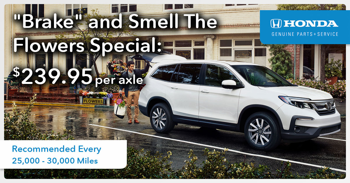 Honda Brake and Smell The Flowers Service Special Coupon