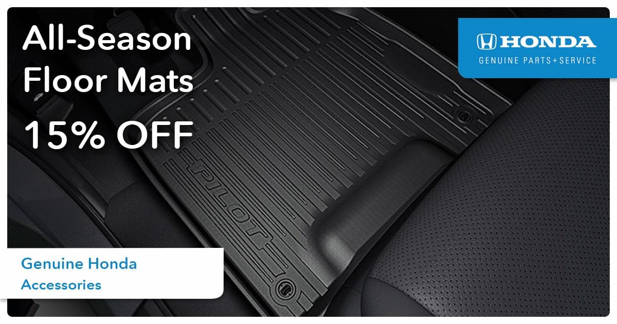 Honda All-Season Floor Mats Service Special Coupon