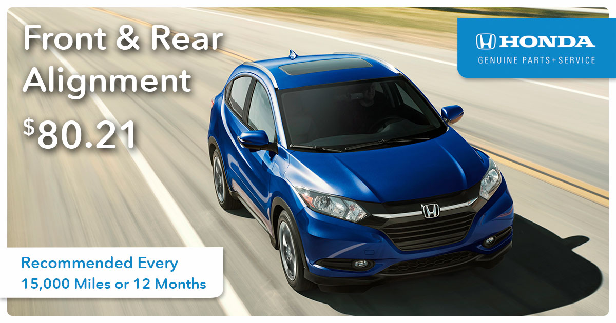 Honda Front and Rear Alignment Service Special Coupon