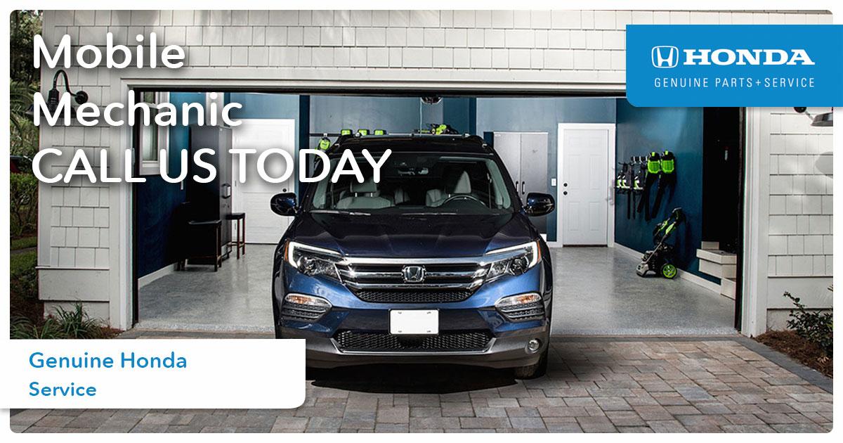 Honda Mobile Mechanic Service Special Coupon
