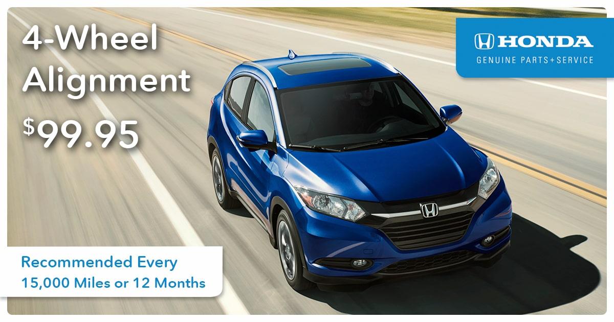 Honda 4-Wheel Alignment Service Special Coupon