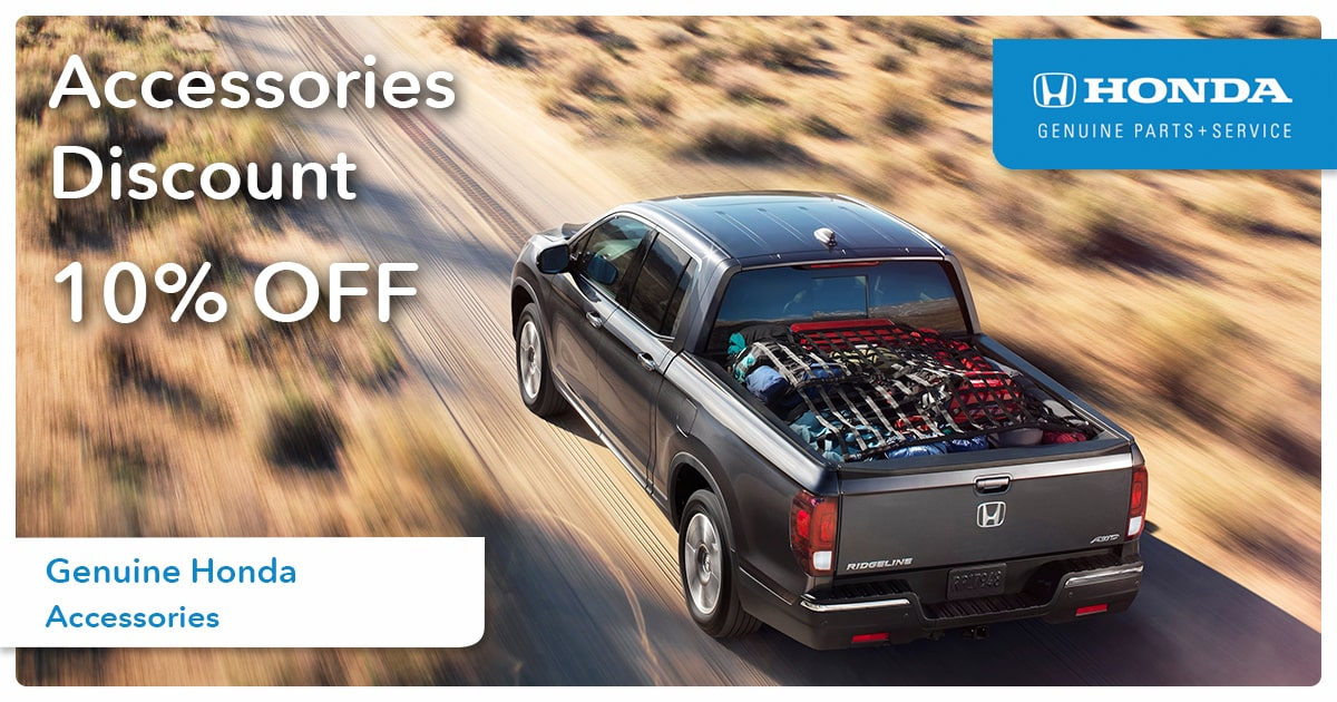 Honda Accessories Discount Service Special Coupon