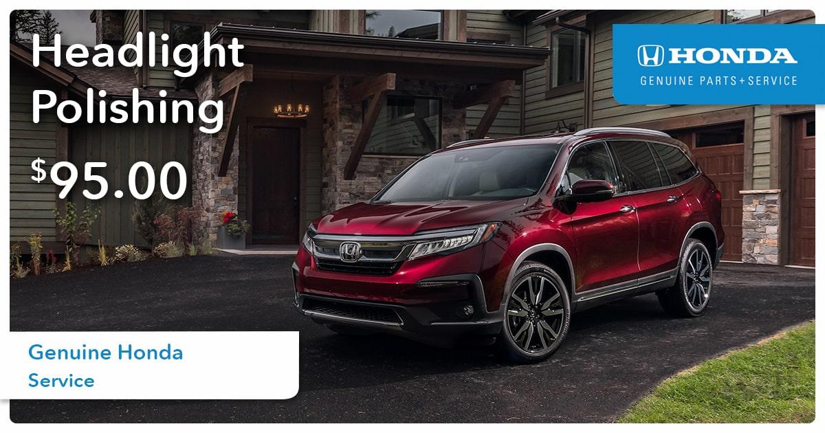 Honda Headlight Polishing Service Special Coupon