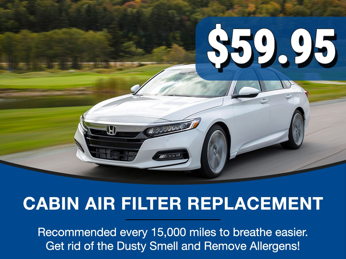 Surprise Honda Cabin Air Filter Service Special Coupon