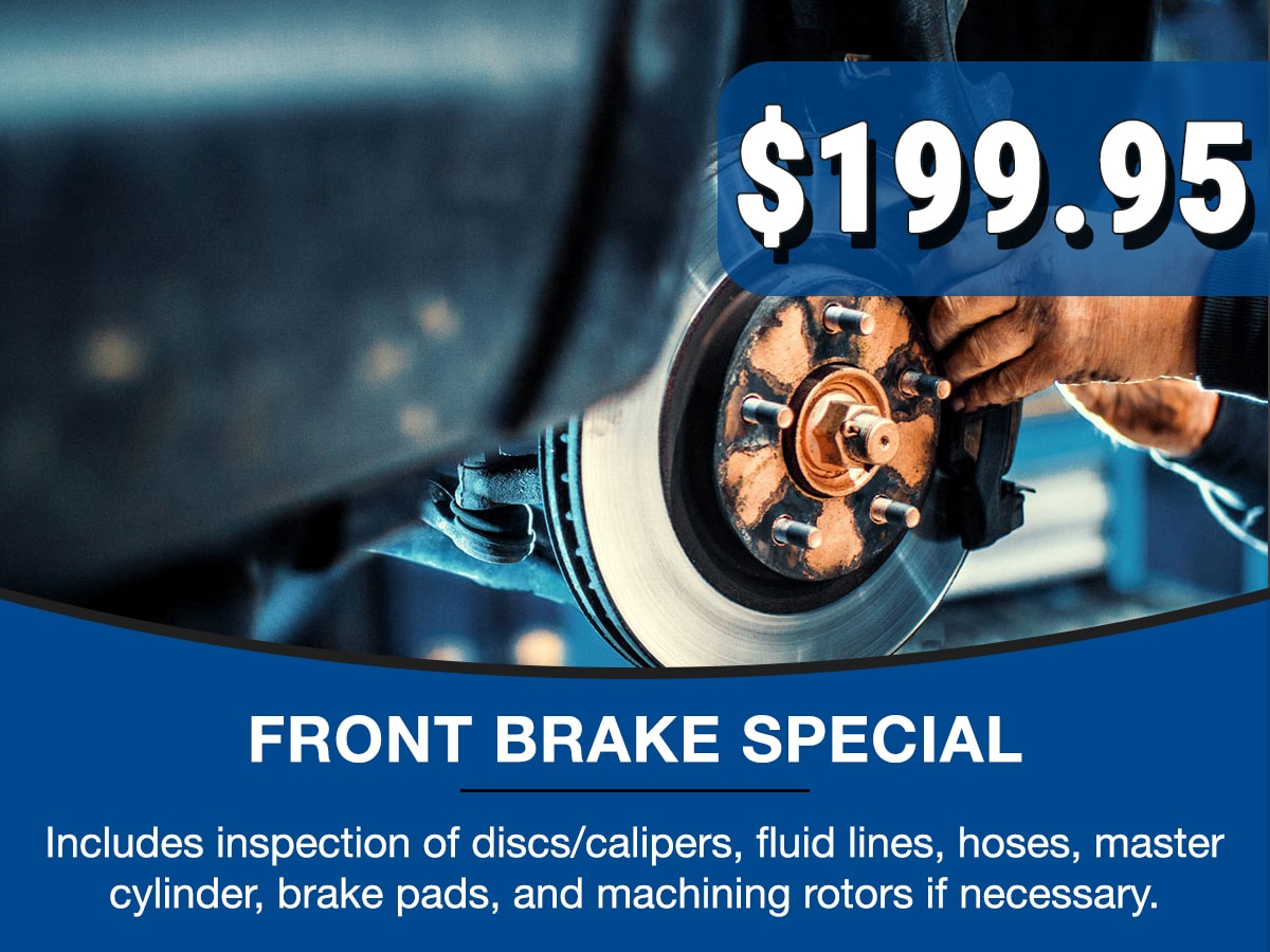 Surprise Honda Front Brake Service Special Coupon