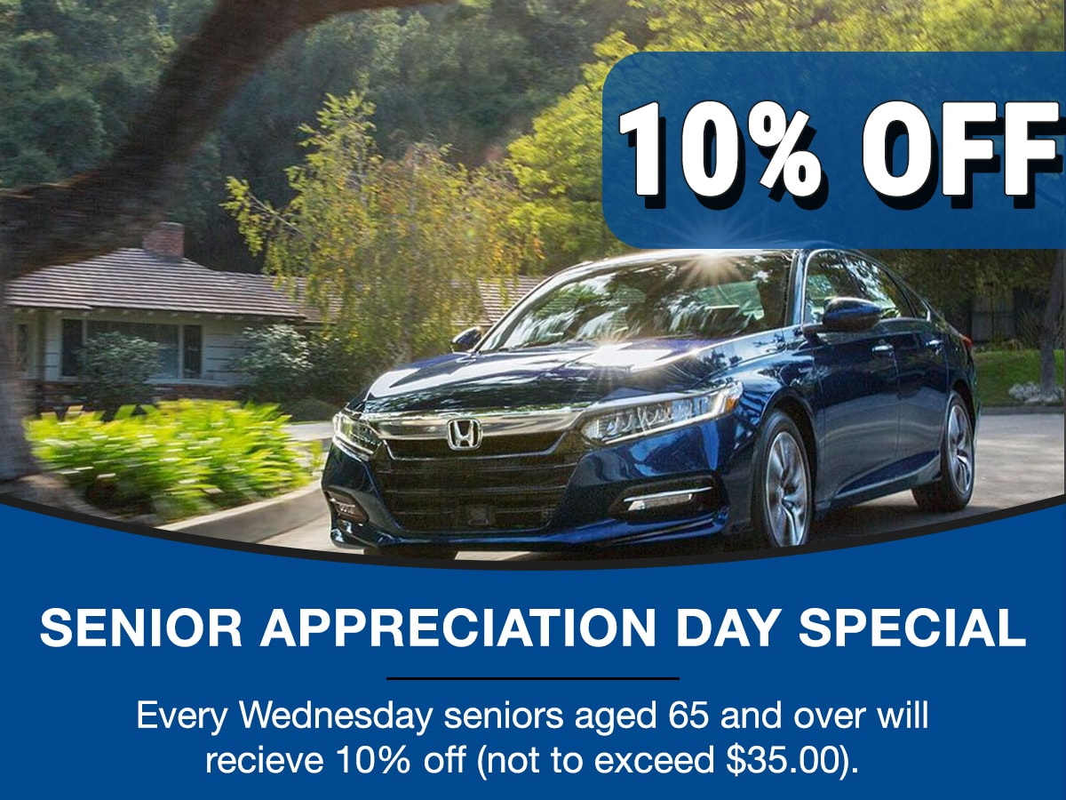 Surprise Honda Senior Appreciation Service Special Coupon